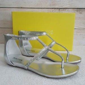 New Kenneth Cole Reaction Silver Bling Sandals